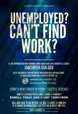Unemployed? Can't Find Work?