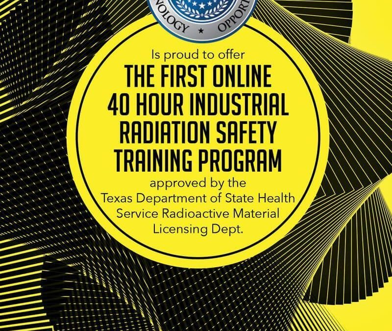 Radiation Safety Online Courses Now Available at AINDT
