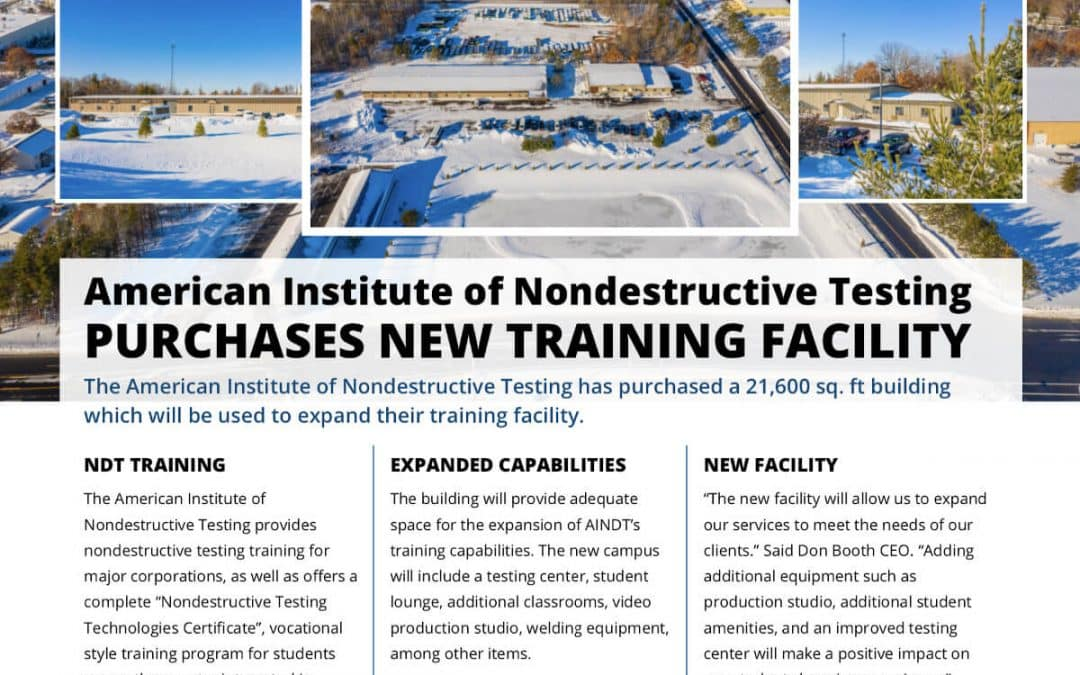 American Institute of Nondestructive Testing purchases new training facility