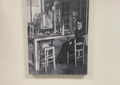 Marie Curie in lab