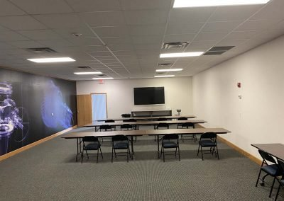 Training room with screen
