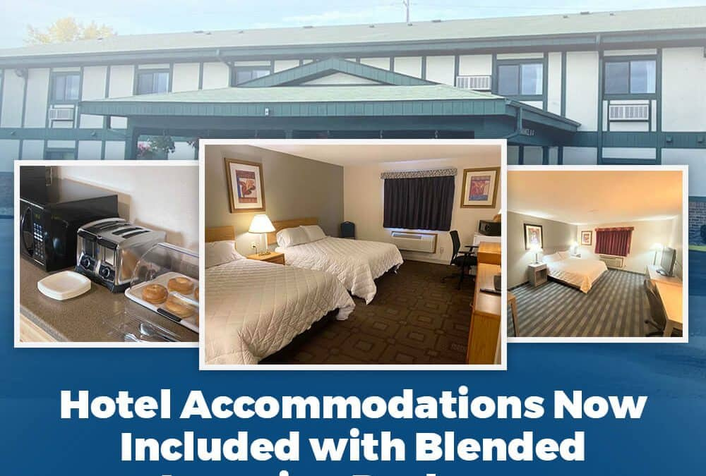 Hotel Accommodations Now Included with Blended Learning Packages