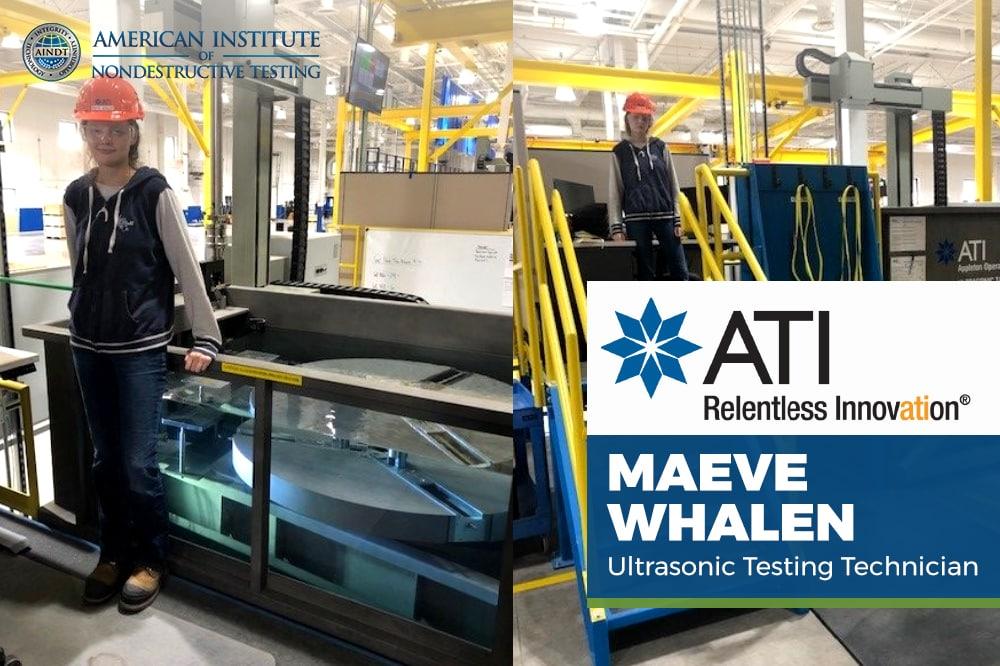 Employee Spotlight: Maeve Whalen, Ultrasonic Testing Technician Appleton Operations
